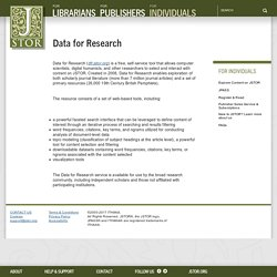 Data for Research (dfr.jstor.org)
