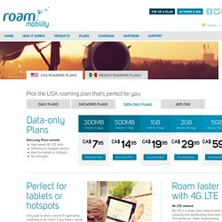 Data-only US Roaming Plans - Roam Mobility