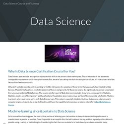Data Science Course and Training