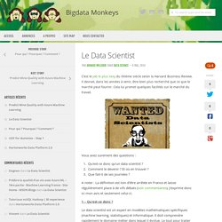Le Data Scientist