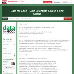Data for Good - Data Scientists & Devs doing GOOD (Toronto, ON)