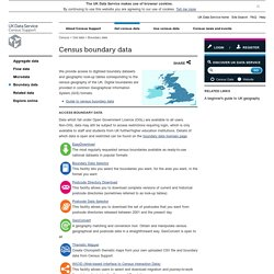 UK Data Service Census » Census boundary data