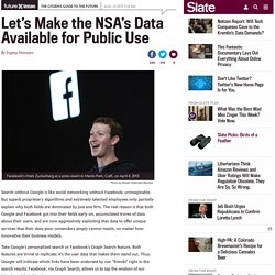 NSA's data should be available for public use.