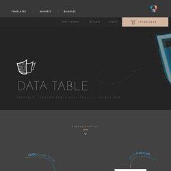 Data-table-Muse-widget