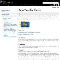 Data Transfer Object
