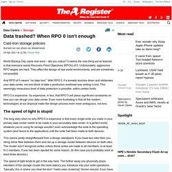 Data trashed? When RPO 0 isn't enough