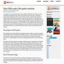 Data URIs make CSS sprites obsolete