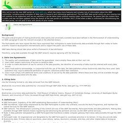 Data Use Agreement - GBIF Portal