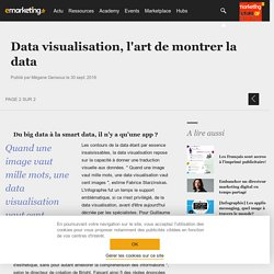 Data visualisation, l'art de montrer la data
