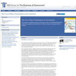 The Use of Data Visualization in Government