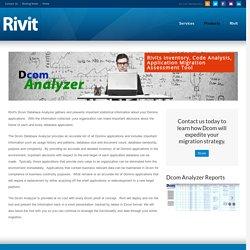 Dcom Database Analyser - Rivit Technology Partners Rivit Technology Partners
