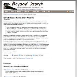 IDC's Database Market Share Analysis