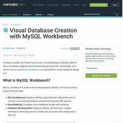 Visual Database Creation with MySQL Workbench