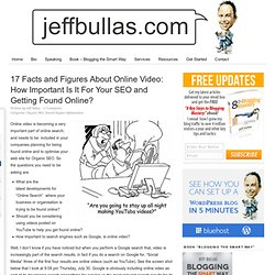 http://www.jeffbullas.com/2009/07/30/17-facts-and-figures-about-online-video-how-important-is-it-for-your-seo-and-getting-found-online/