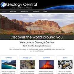 Geology central: A Database of Geological Websites