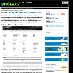 Database: DD-WRT kompatible Router