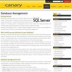 Database Management - Canary Data Solutions