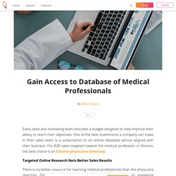 Gain Access to Database of Medical Professionals - Ethan Bispo
