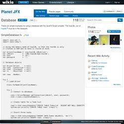 Database - Planet JFX