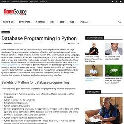 Database Programming in Python