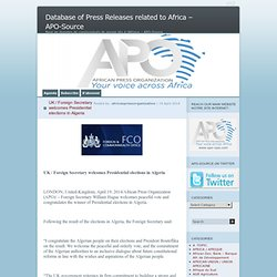 Database of Press Releases related to Africa