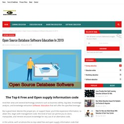 Open Source Database Software Education In 2019