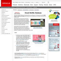Oracle NoSQL Database Technical Overview