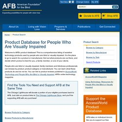 Product Database for People Who Are Visually Impaired
