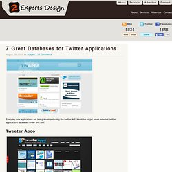 7 Great Databases for Twitter Applications - Flock