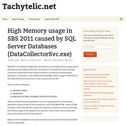High Memory usage in SBS 2011 caused by SQL Server Databases (DataCollectorSvc.exe)