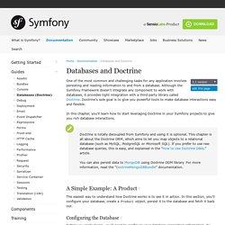 Databases and Doctrine (current)