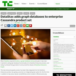 DataStax adds graph databases to enterprise Cassandra product set