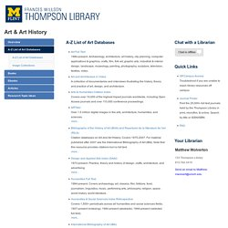A-Z List of Art Databases - Art & Art History - LibGuides at University of Michigan