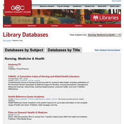 Health-Related Library Databases
