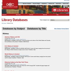GCC Library History Databases