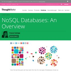 NoSQL Databases: An Overview