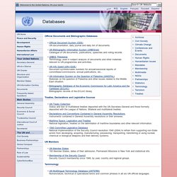 Databases - United Nations