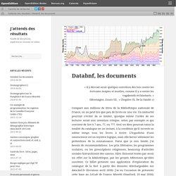Databnf, les documents – J'attends des résultats