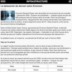 Le datacenter de demain selon Emerson