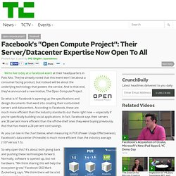 "Facebook's ""Open Compute Project"": Their Server/Datacenter Expertise Now Open To All"