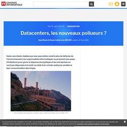 Datacenters, les nouveaux pollueurs ?