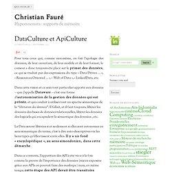 DataCulture et ApiCulture