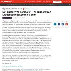 Det datadrivna samhället - ny rapport från... - Digitaliseringskommissionen