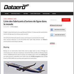 Dataero - Liste des fabricants d'avions de ligne dans le monde