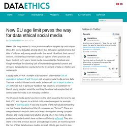 New EU age limit paves the way for data ethical social media - Dataethical Thinkdotank