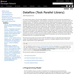 Dataflow (Task Parallel Library)