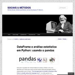 DataFrame e análise estatística em Python: usando o pandas