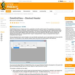 DataGridView – Stacked Header