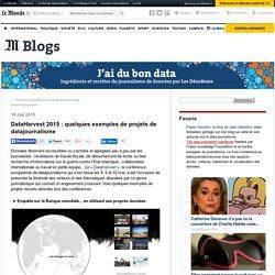 DataHarvest 2015 : quelques exemples de projets de datajournalisme