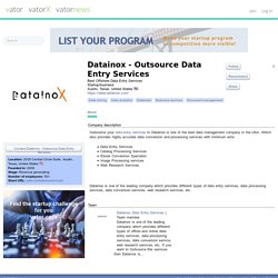 Datainox - Outsource Data Entry Services